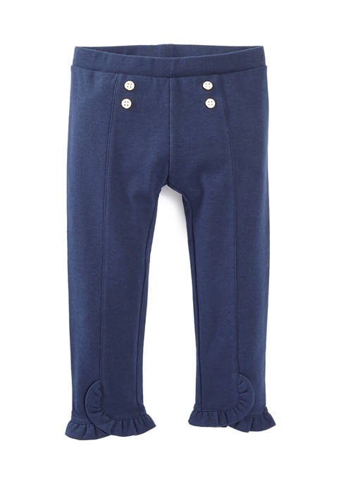 Crown & Ivy™ Toddler Girls Button Front Pants