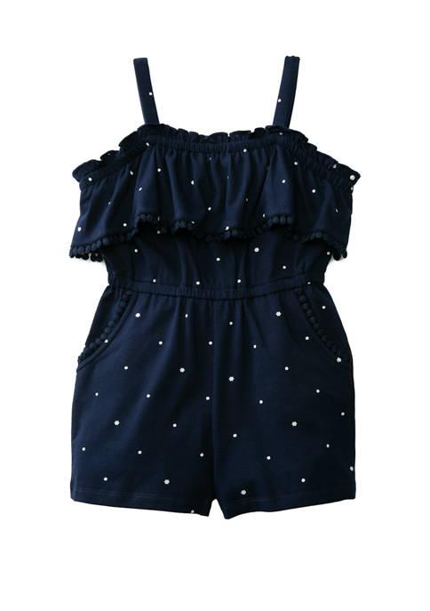 Crown & Ivy™ Toddler Girls Pom Pom Romper