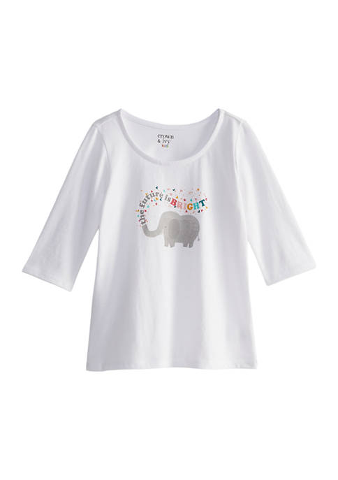 Toddler Girls Long Sleeve Graphic Top