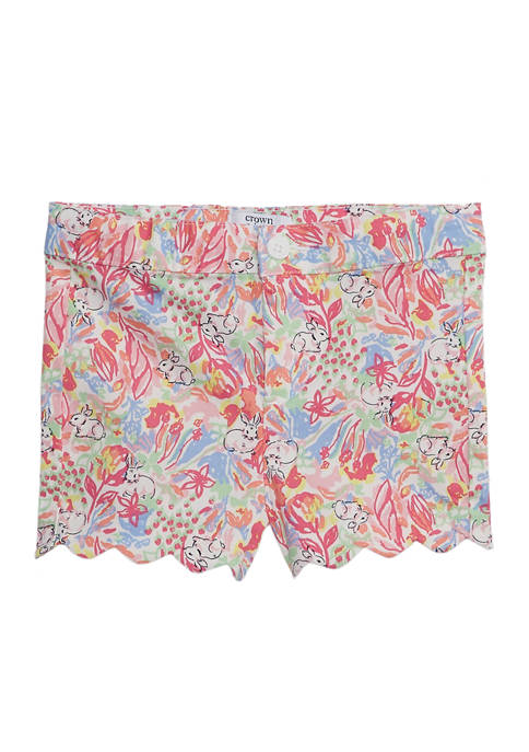 Crown & Ivy™ Toddler Girls Printed Twill Shorts