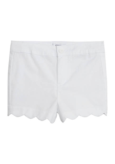 Toddler Girls Solid Twill Shorts