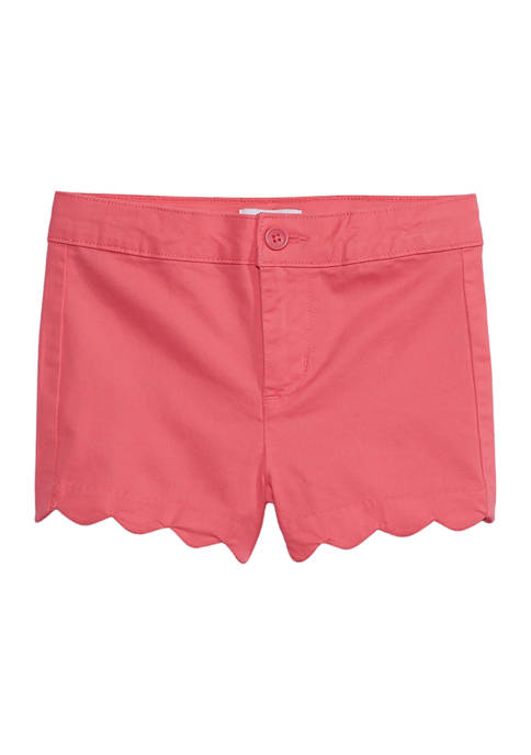 Crown & Ivy™ Toddler Girls Solid Twill Shorts