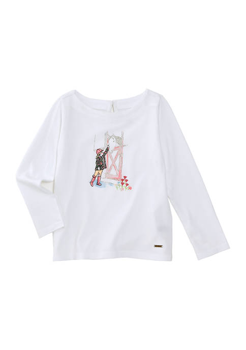 Crown & Ivy™ Toddler Girls Graphic Shirt