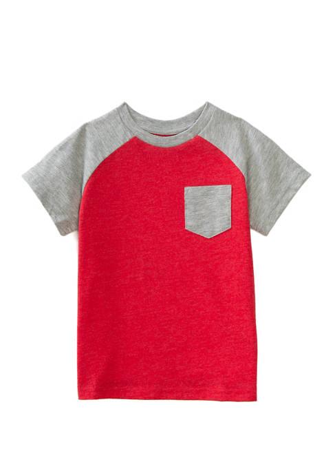 Lightning Bug Toddler Boys Short Sleeve Raglan T-Shirt