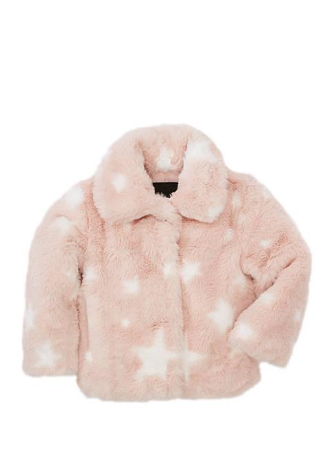 Toddler Girls Star Fur Jacket