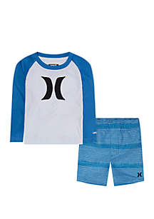 Hurley® Toddler Toddler Boys UV Protected Long Sleeve Swim Set