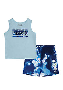 Hurley® Toddler Toddler Boys Tie Dye Tank and Shorts Swim Set