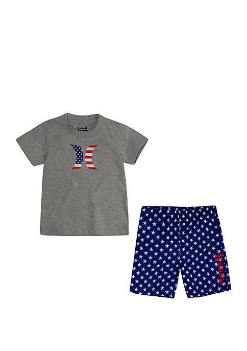 Toddler Boys Patriot Swim Set