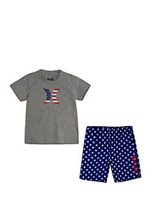 Hurley® Toddler Toddler Boys Patriot Swim Set