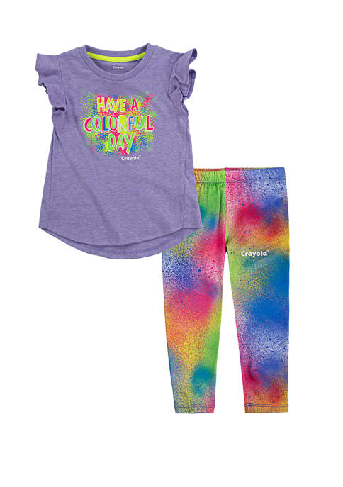Crayola® Toddler Girls T-Shirt and Leggings Set