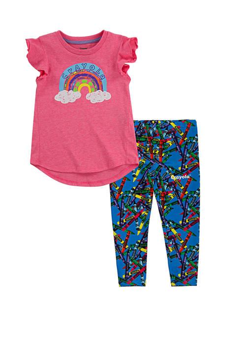 Toddler Girls T-Shirt and Leggings Set