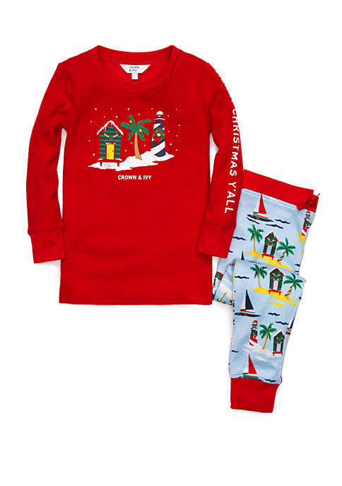 Crown & Ivy™ Unisex Toddler Merry Christmas Yall
