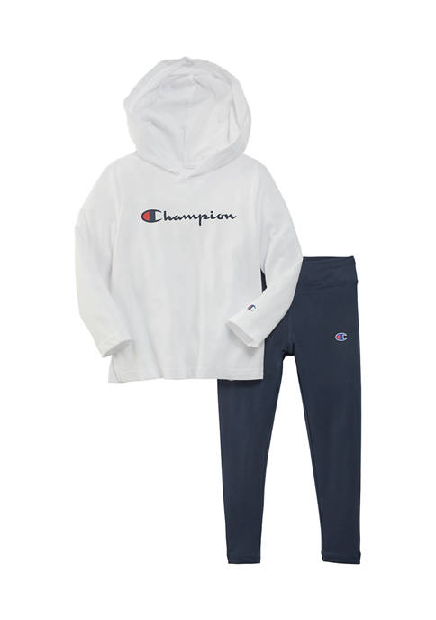 Champion® Toddler Girls Script Jersey Essential Legging Set