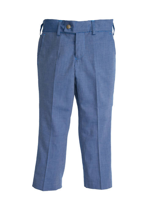 Crown & Ivy™ Toddler Boys Blue Chambray Pants