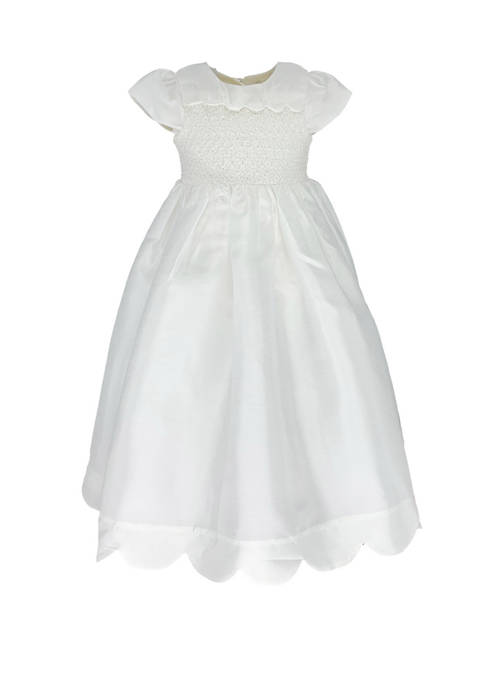 Carriage Boutique Baby Girls Chiffon Christening Gown with