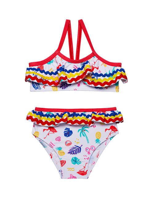 Andy & Evan Baby Girls Swim Bikini