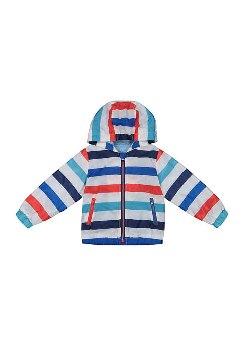 Andy & Evan Baby Boys Striped Water Resistant