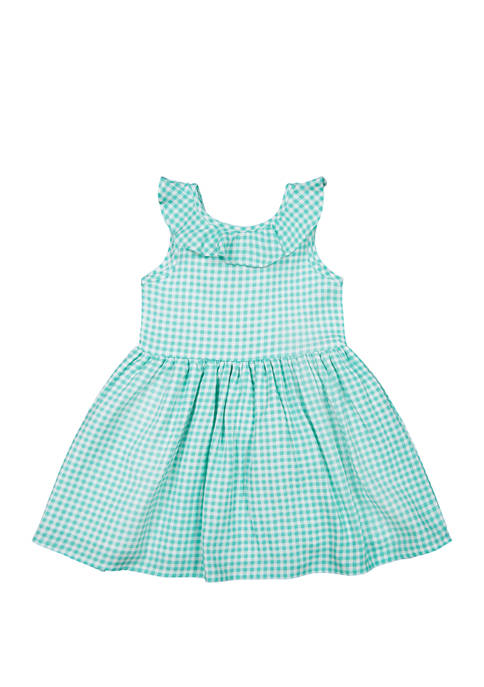 Andy & Evan Baby Girls Green Gingham Dress