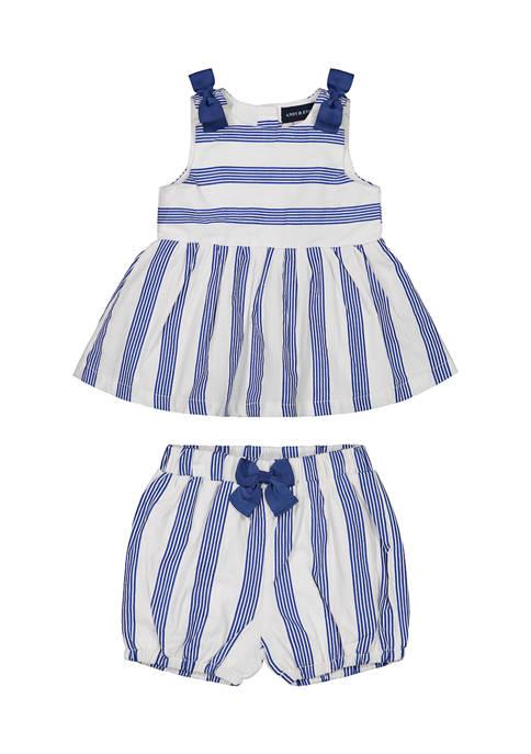 Baby Girls Stripe Bow Set