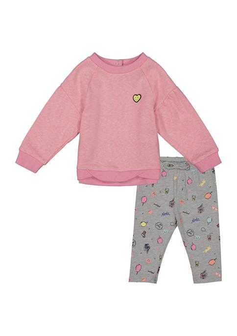 Andy & Evan Baby Girls Sweatshirt Set