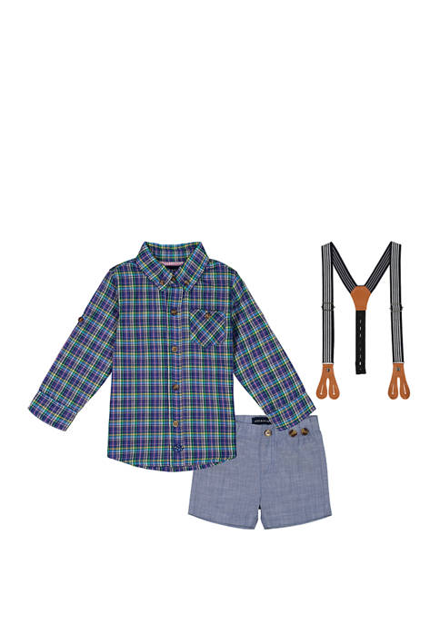 Andy & Evan Baby Boy Plaid Button Down