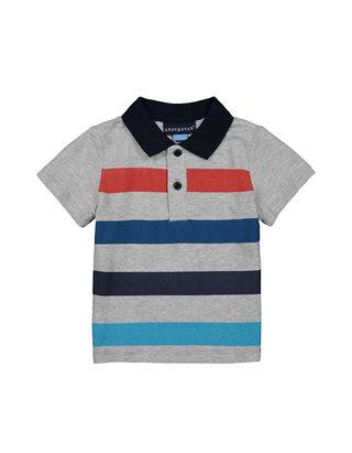 Andy /& Evan Baby Boys Navy Long Sleeve Polo