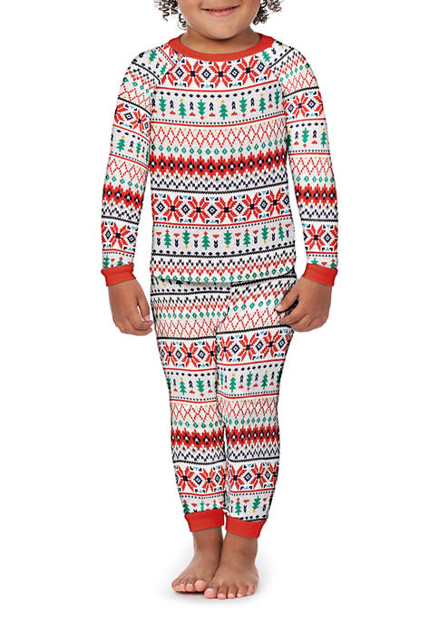 PAJAMARAMA Toddler Fairisle 2-Piece Pajama Set