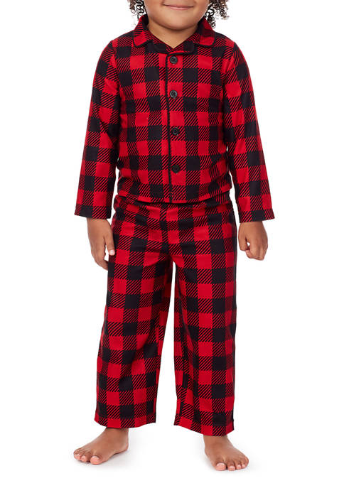 PAJAMARAMA Toddler Classic Buffalo Check 2-Piece Pajama Set