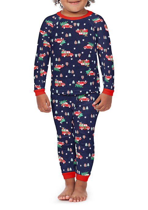 PAJAMARAMA Toddler Red Truck 2-Piece Pajama Set