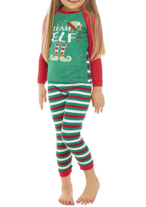 PAJAMARAMA Toddler Boys and Girls Team Santa Elf