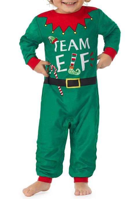 Baby Team Santa Elf Family One Piece Pajama