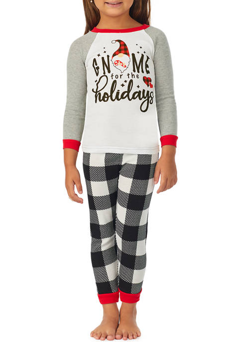 Toddler Boys and Girls Gnome Family Pajama Set