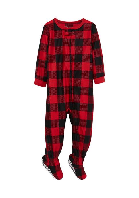 Baby Boys and Girls Buffalo Notch Family One Piece Pajama