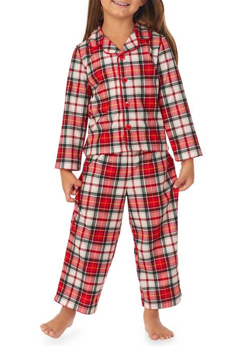 Toddler Boys and Girls Plaid Family Pajama Set