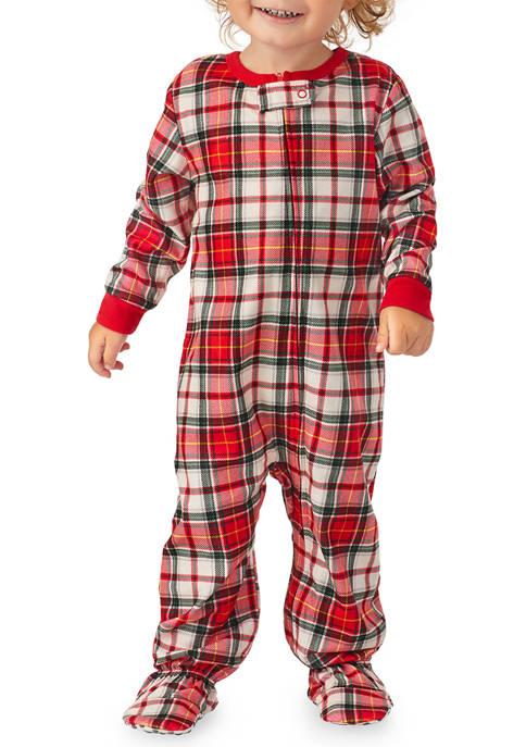 PAJAMARAMA Baby Plaid Family One Piece Pajama