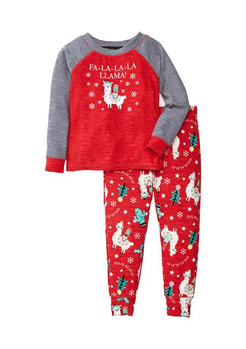 Merry Lane Baby Llama 2-Piece Pajama Set