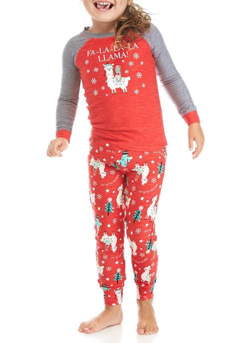 Merry Lane Toddler Llama 2-Piece Pajama Set