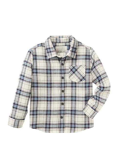 Toddler Boys Long Sleeve Flannel Shirt