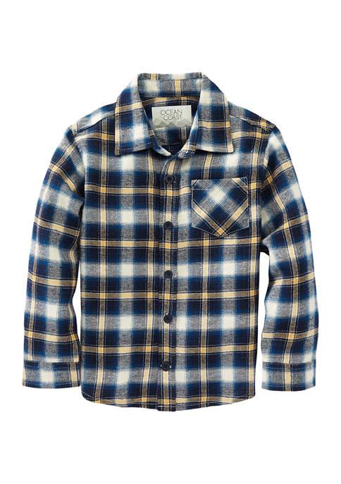 Ocean + Coast® Toddler Boys Long Sleeve Flannel