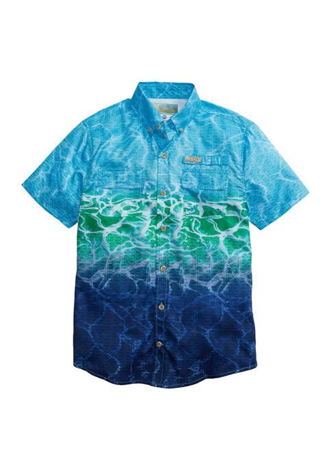 Toddler Boys Printed Fishing Shirt