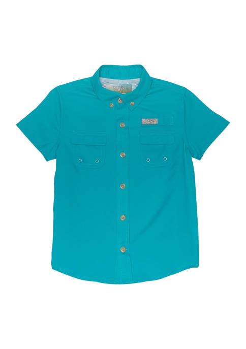 Ocean & Coast® Toddler Boys Printed Fishing Shirt