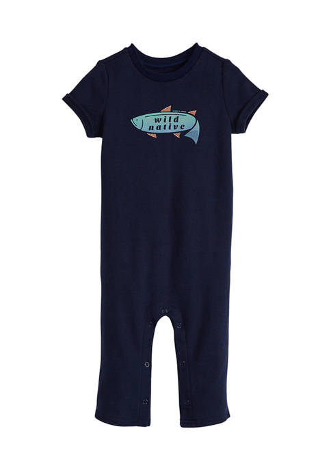 Baby Boys Short Sleeve Graphic Romper