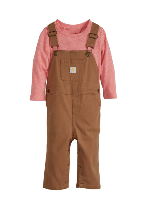 Baby Boys Knit Overalls Set