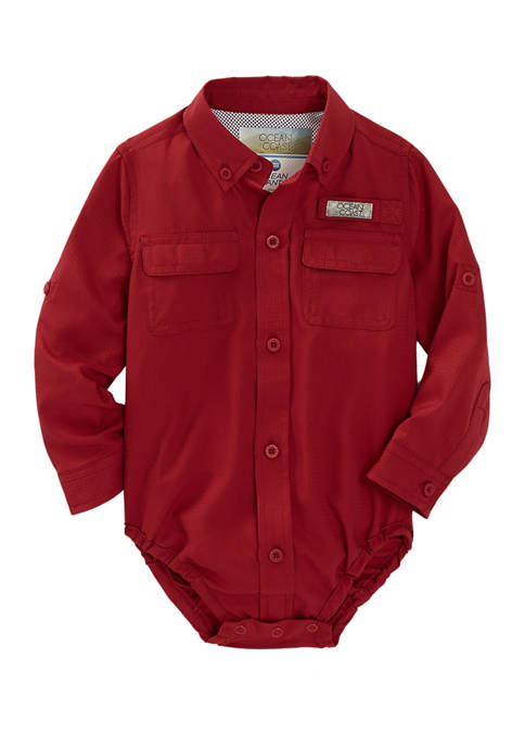 Baby Boys Long Sleeve Graphic Bodysuit