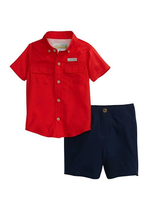 Baby Boys Fishing Shirt Set