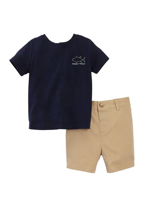 Ocean + Coast® Baby Boys Graphic Set