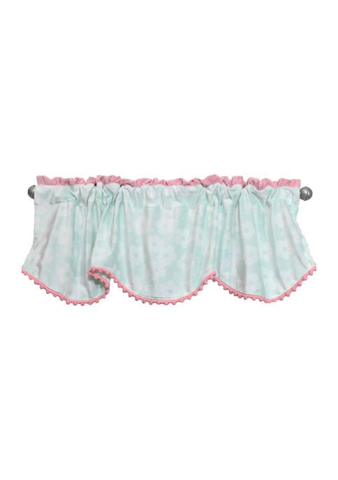 Nurture Baby Girls Nursery Aqua and Pink Plush