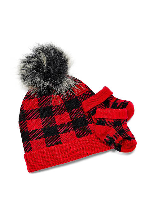 Tendertyme Baby Boys and Girls Red Plaid Knit