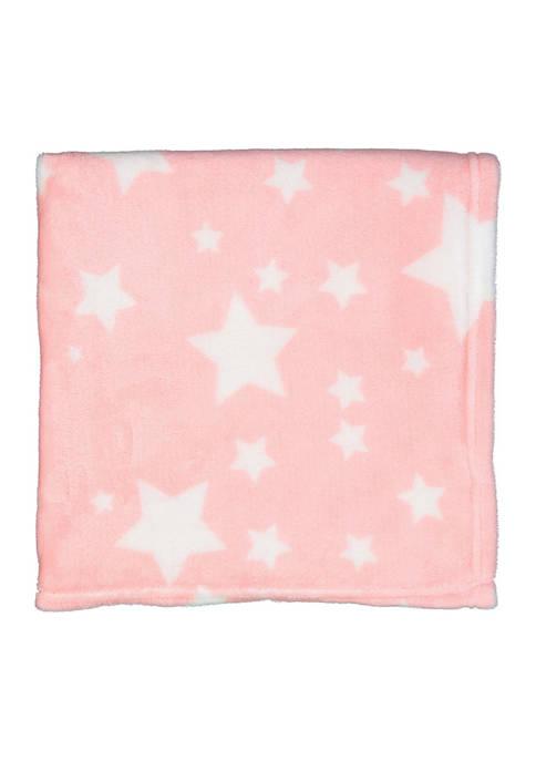 Baby Girls Plush Star Blanket