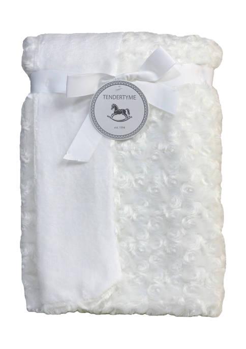 Tendertyme Baby Curly Plush Blanket, White